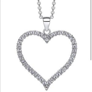 Nic & Syd Bordered Heart Pendant Necklace NWOT
